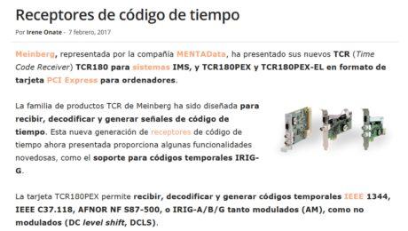 TCR180 -Receptores de código de tiempo - Meinberg
