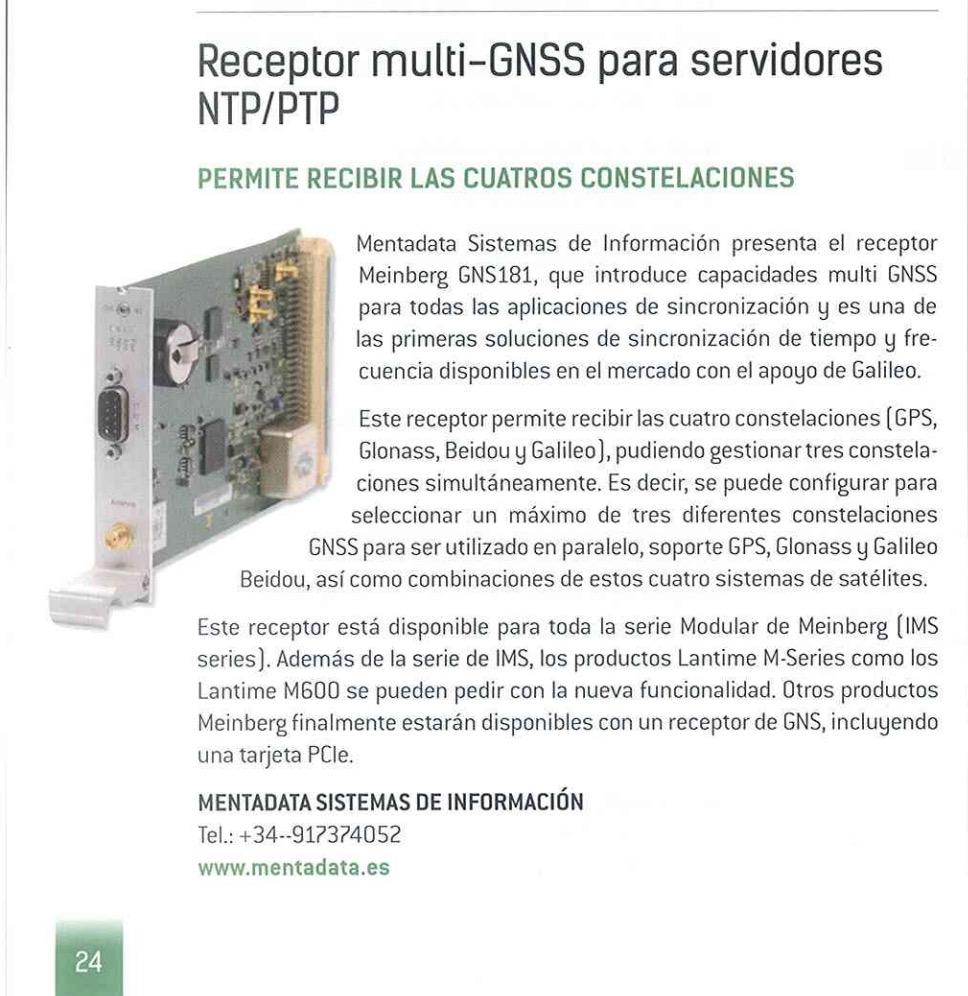 Receptor Multi-GNSS para servidores NTP/PTP - Meinberg - MENTAData