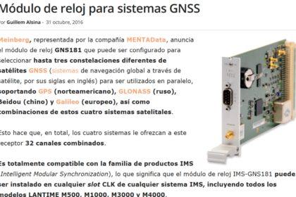 Módulo de reloj para sistemas GNSS - Meinberg