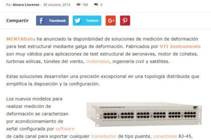 Medición de deformación - VTI Instruments