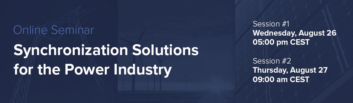 Soluciones de sincronización para la industria energética